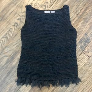 {{ Black Knit Shell }}